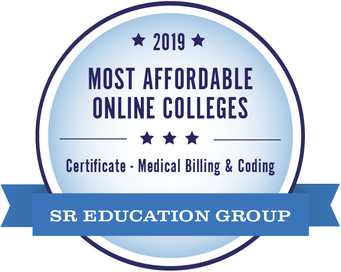2019 Most Affordable Online Certification Medical Billing & Coding Degree Seal