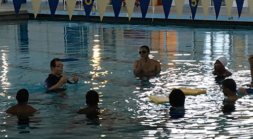 Photo of a Swimming Class